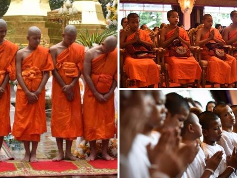 Thai cave boys return to families after completing time as Buddhist monks