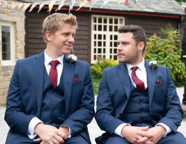Ryan Hawley and Danny Miller in Emmerdale