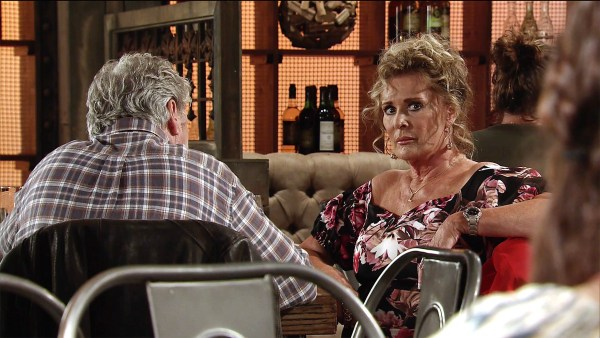 Liz gets a shock from Jim in Coronation Street