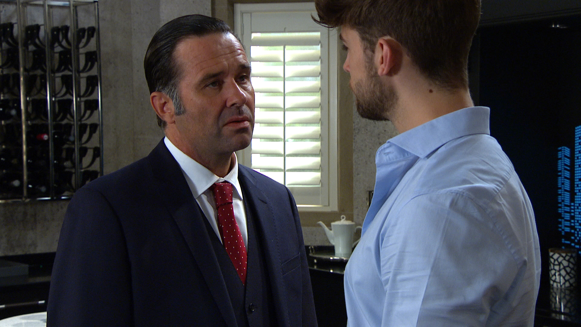 Graham warns Joe in Emmerdale