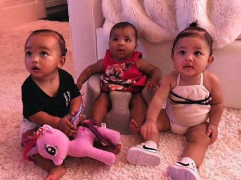 Kim Kardashian shares picture of 'triplets' Chicago, True and Stormi and it's enough to make you broody