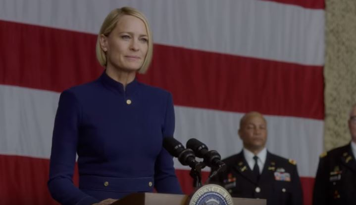Claire Underwood marks the 'end of middle-aged white men' in new House Of Cards season 6 trailer