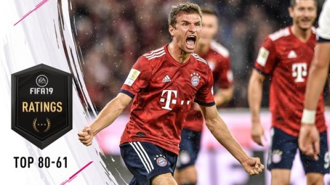 FIFA 19 player ratings: 80-61 features Thomas Muller, Leroy Sane and