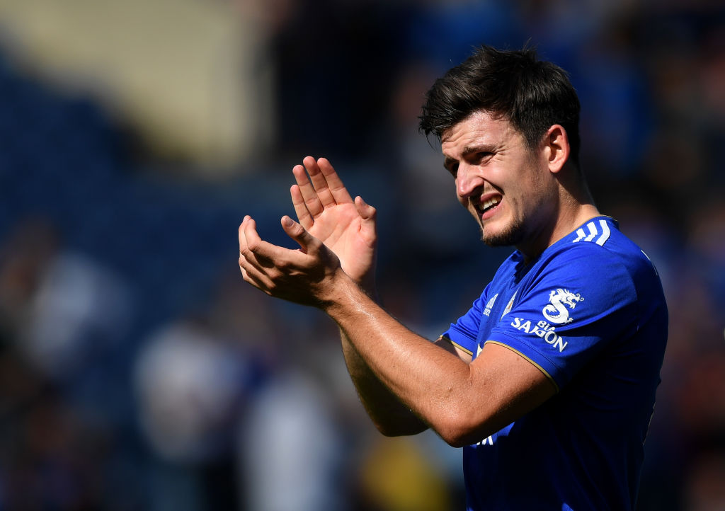 Kasper Schmeichel reacts to Manchester United target Harry Maguire signing new Leicester City deal