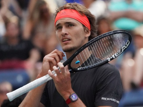 Alexander Zverev reacts to another early Grand Slam loss in 2018 at the US Open