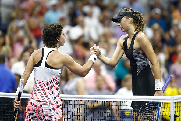 Frustrated Maria Sharapova reacts to surprise US Open exit