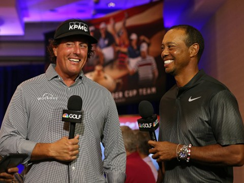 Tiger Woods swinging the club better than ever before, says Phil Mickelson ahead of Ryder Cup