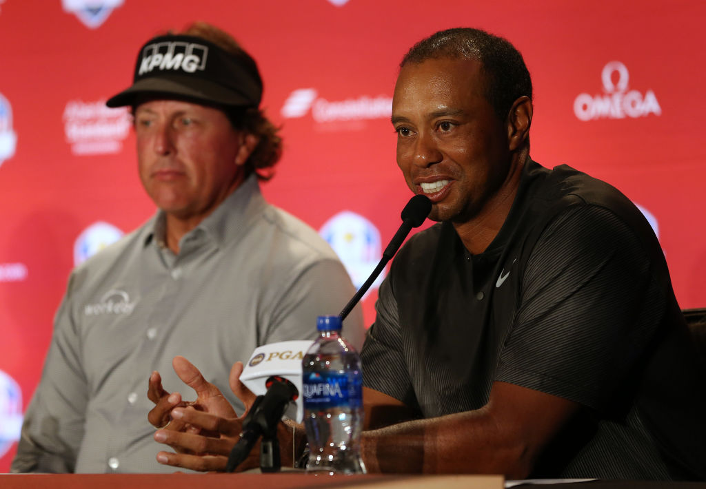 Tiger Woods and Phil Mickelson react to being named in US Ryder Cup team