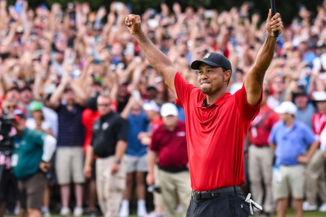 e06ba8213ac83 The American won his first tournament in five years (Picture  Getty). Tiger  Woods ...