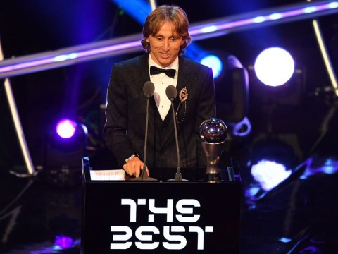 Luka Modric wins the Best FIFA Men's Player award as Fifpro World XI is named