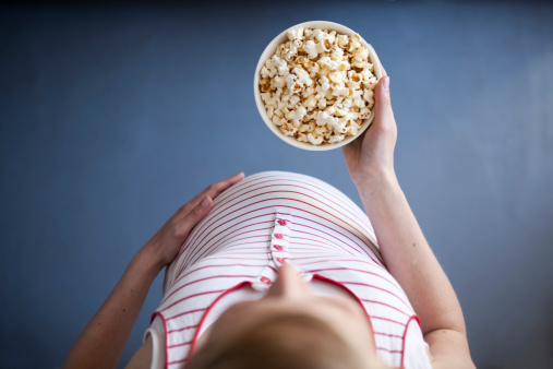 Eating for two when you're pregnant could harm your baby. (Picture: Getty)