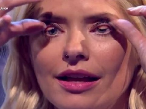 Holly Willoughby shocks viewers with gross party tricks on Celebrity Juice – shoves cocktail stick up her nose