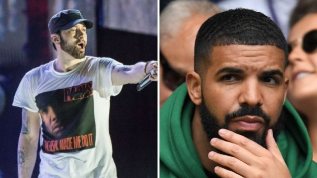 Drake and Eminem (Picture: Rex Features)
