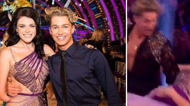 Strictly Come Dancing had its first close call after AJ Pritchard dropped Lauren Steadman on launch night