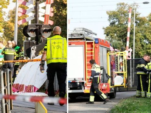Four kids killed as train smashes into bicycle at level crossing in the Netherlands