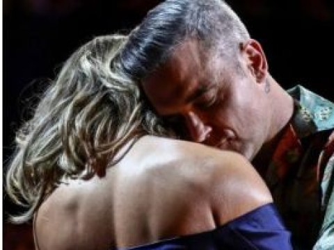 X Factor fans split over Robbie Williams and Ayda Field's PDA on the panel