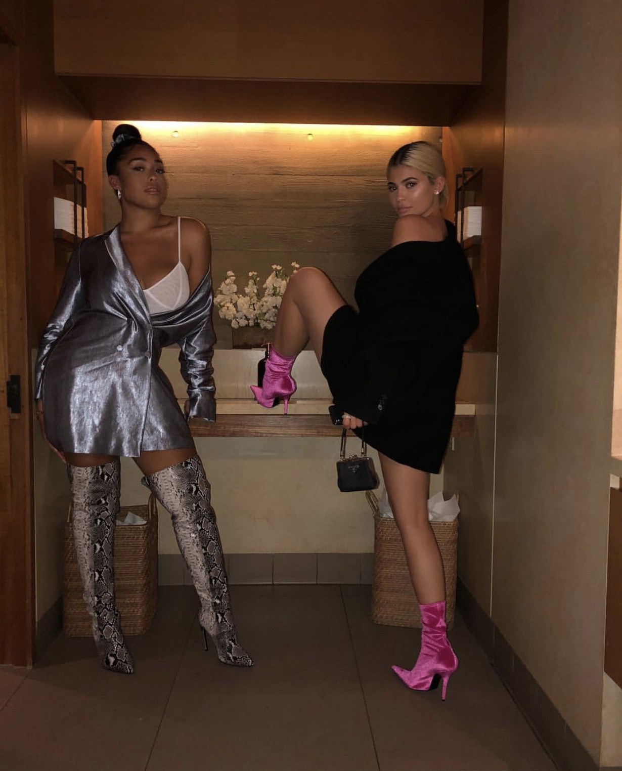 Kylie Jenner and BFF Jordyn Woods show what really happens in the womens' toilets