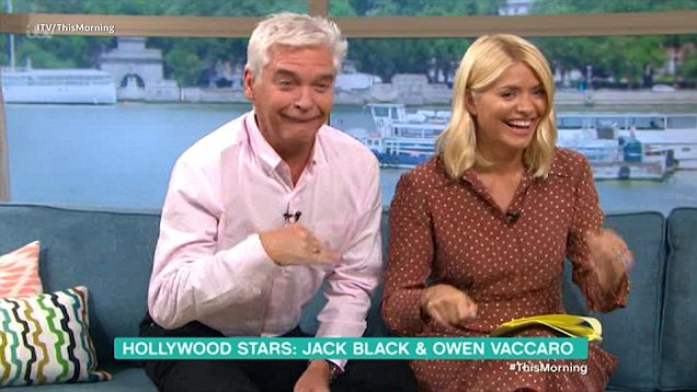 Phillip Schofield and Holly Willoughby apologise for playing sweary Jack Black song on live TV