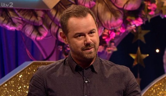 Danny Dyer asked Dani and Jack Fincham some awkward questions on Celebrity Juice (Picture: ITV2)