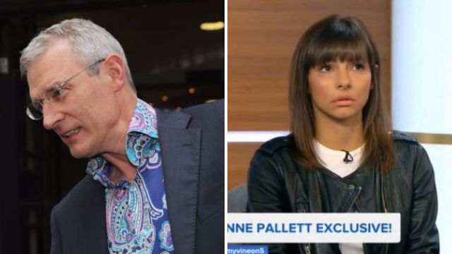 Jeremy Vine doesn't seem happy about having to interview Roxanne Pallett