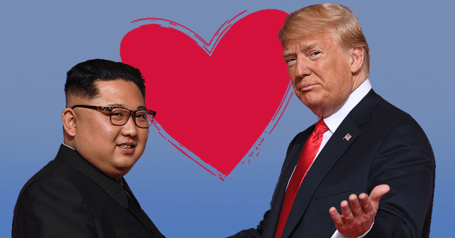 Donald Trump says him and Kim Jong-Un fell in love FOR SOCIAL AFP/Getty