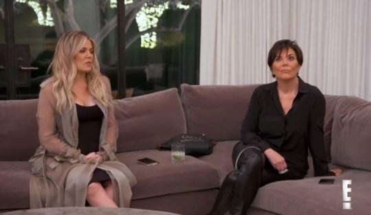 Khloe Kardashian tried to mediate between Kris Jenner and Kourtney (Picture: E!)