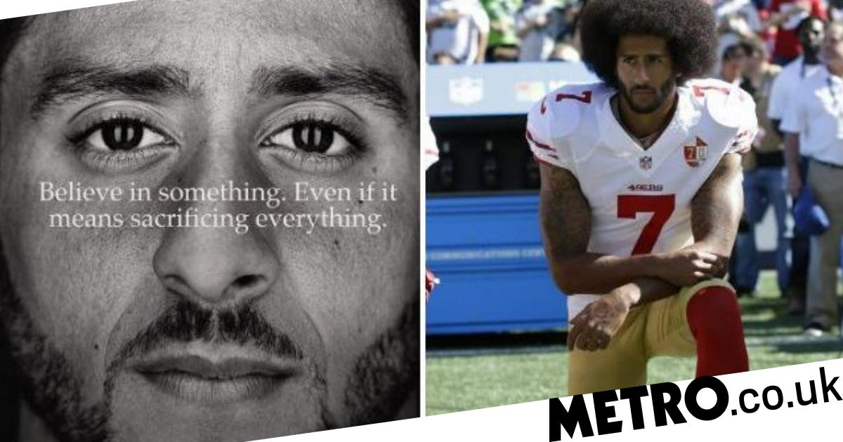 42d927716 Here s Nike s controversial  Just Do It  ad with NFL quarterback Colin  Kaepernick