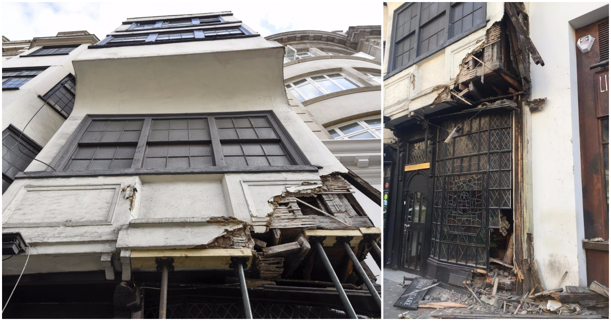 Bus crashes into only building that survived the Great Fire of London on the Strand