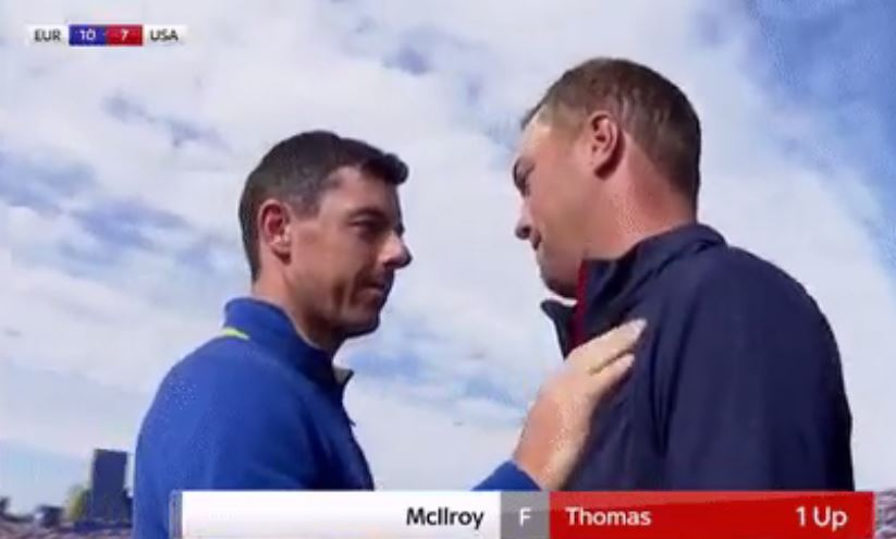 Justin Thomas reveals what he told Rory McIlroy winning Ryder Cup singles match
