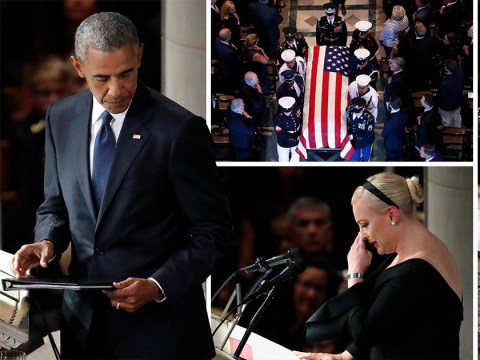 Obama leads former presidents in paying tribute to John McCain at funeral