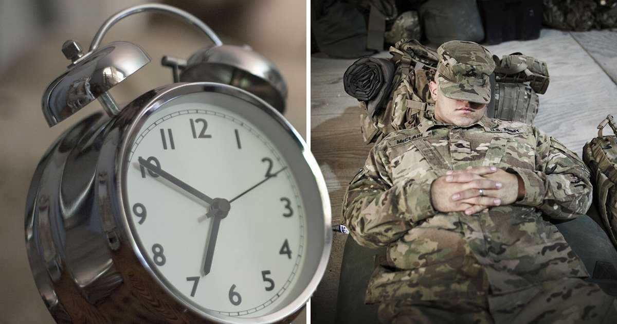 Army's sleeping technique that will get you to sleep in two minutes