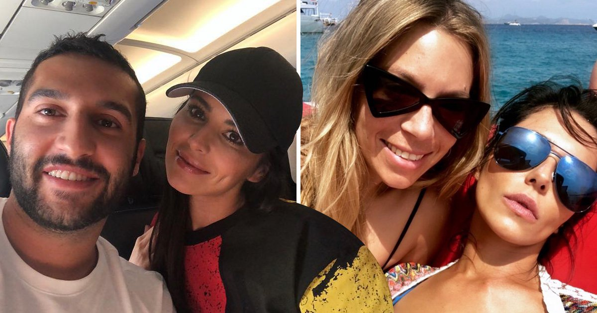 Cheryl channels her inner Disney icon as she poses with fans on way home from Ibiza