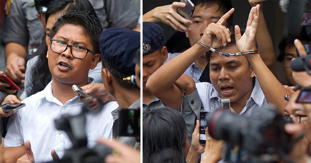 Theresa May says Reuters journalists jailed in Myanmar should be freed
