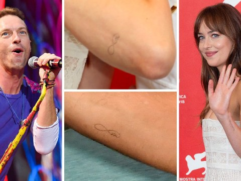 Dakota Johnson and Chris Martin prove their love is real with matching tattoos