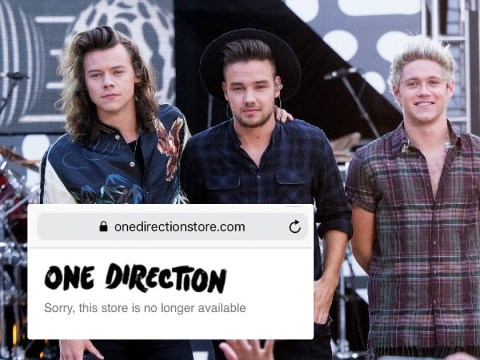 Devastated One Direction fans think the band's reunion is off after online shop closes