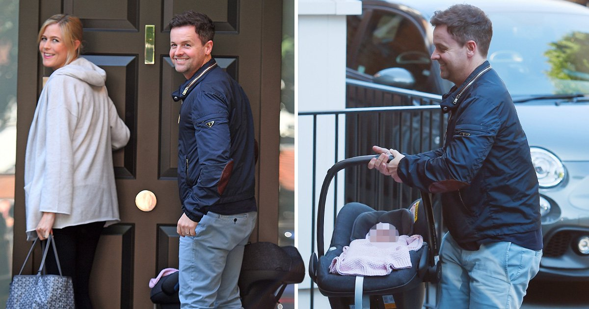 Dec Donnelly and wife Ali beaming from ear to ear as they bring daughter Isla home for first time