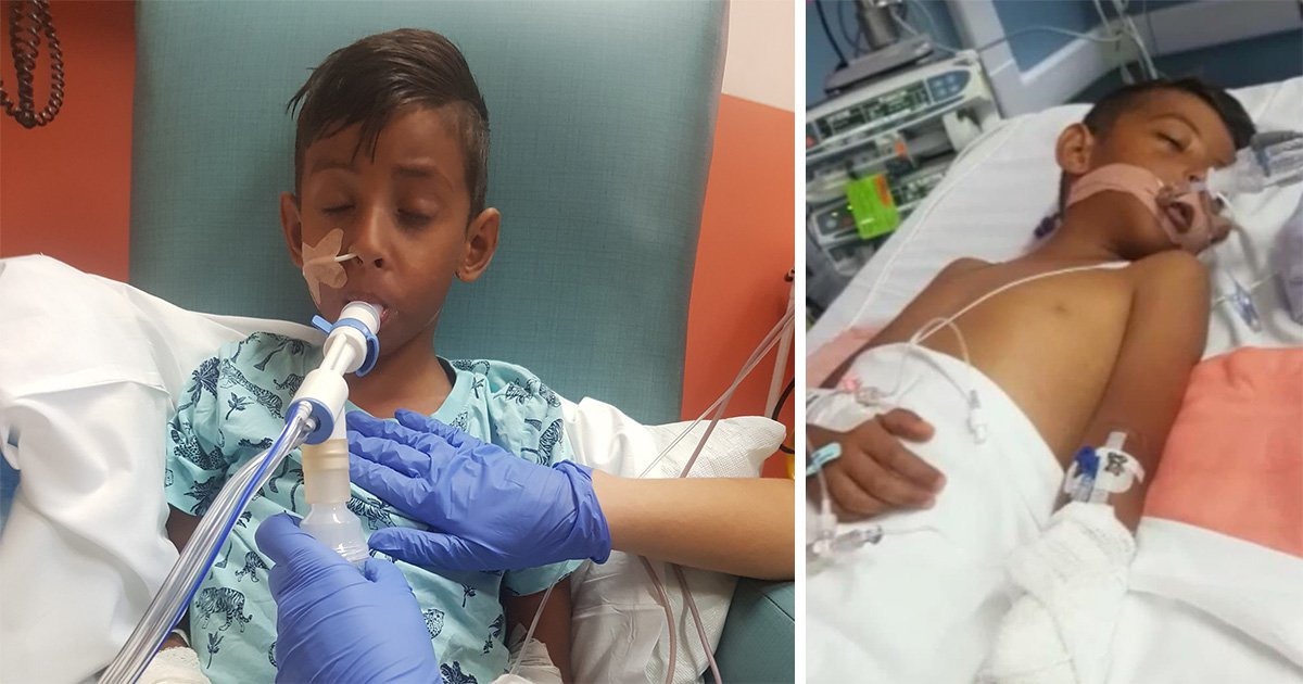 Boy, 7, fighting for life after food poisoning gave him a stroke on holiday in Egypt
