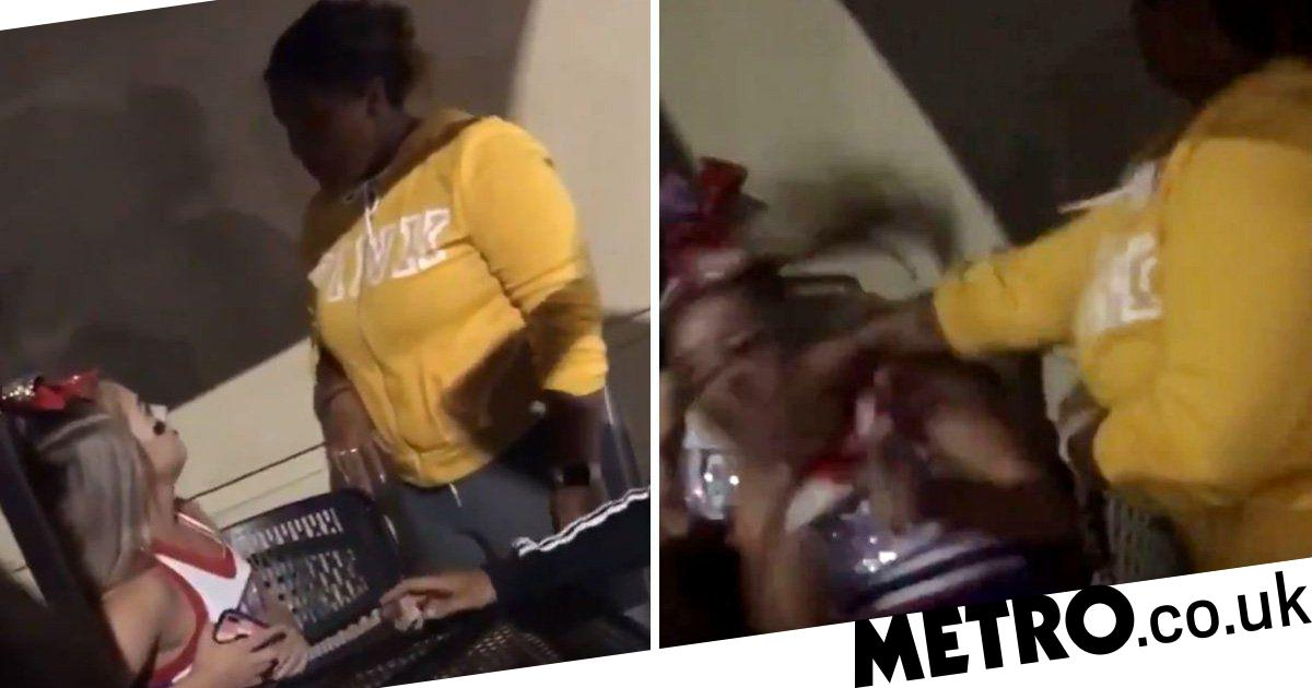 Bully picks fight with smaller girl who batters her to the