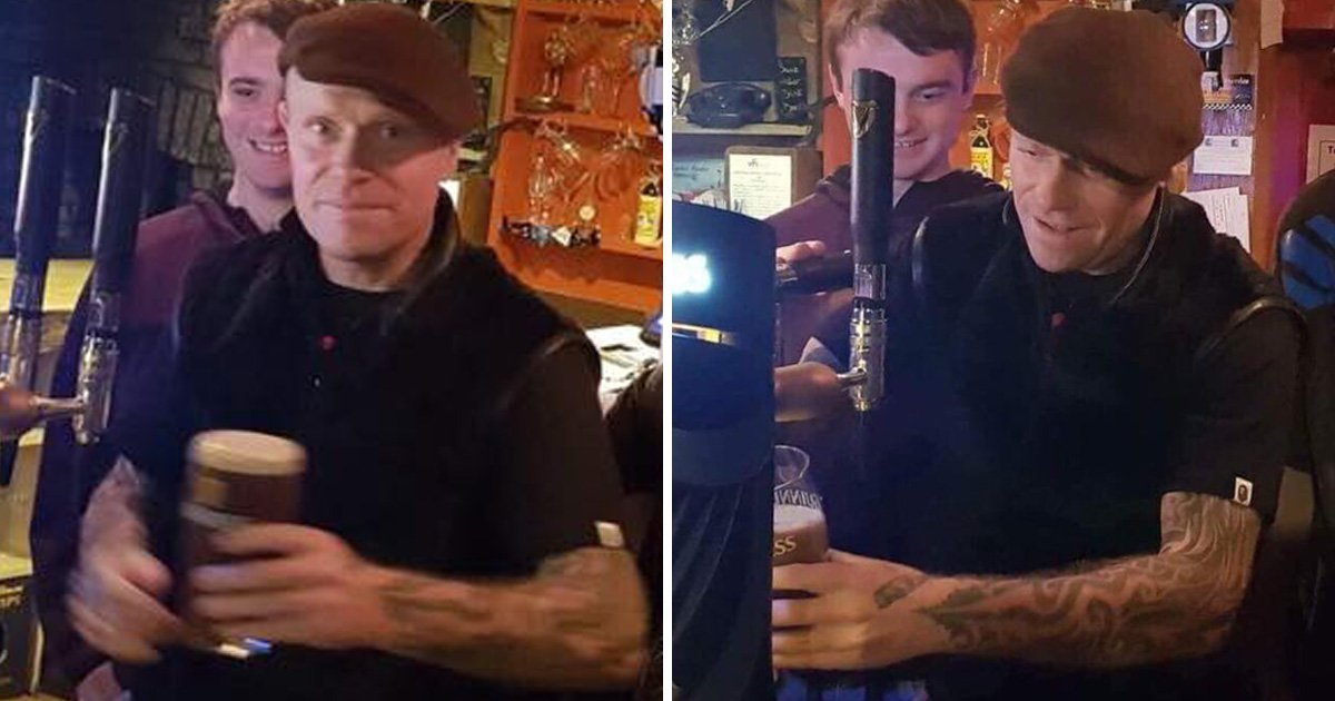 The Prodigy's Keith Flint surprises fans as he starts pulling pints in local pub