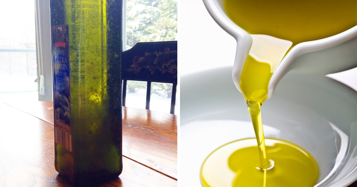 What are the floating bits in olive oil?
