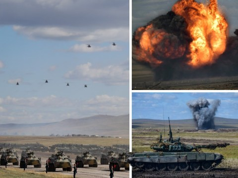 Pictures take you inside the 'biggest ever' Russian war games involving hundreds of thousands of troops