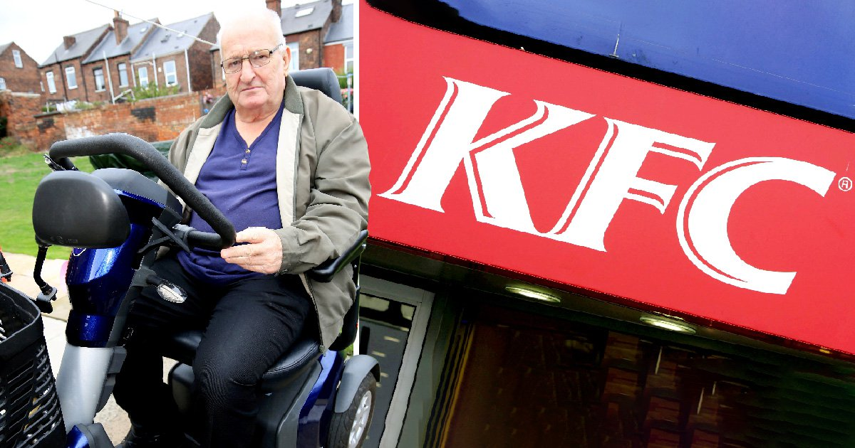 Pensioner irate after KFC banned his mobility scooter from drive-thru