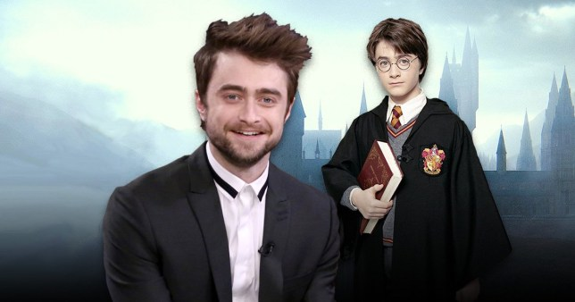 Daniel Radcliffe now and when he played Harry Potter as a boy