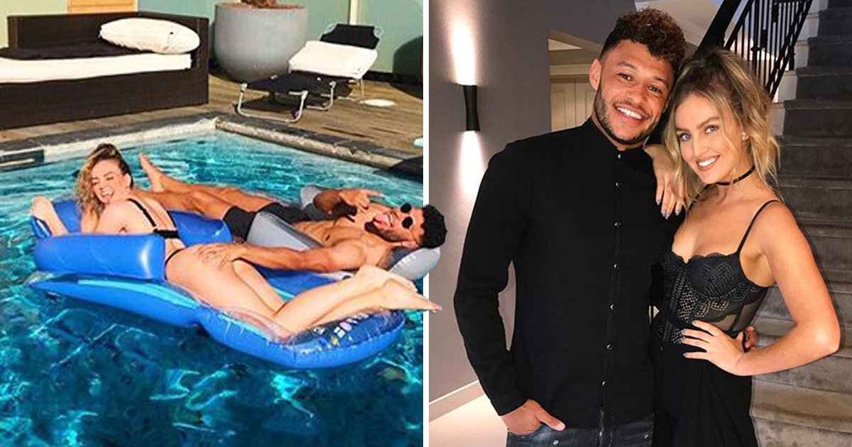 Perrie Edwards' boyfriend Alex Oxlade-Chamberlain gets cheeky as he squeezes her bum in holiday snap
