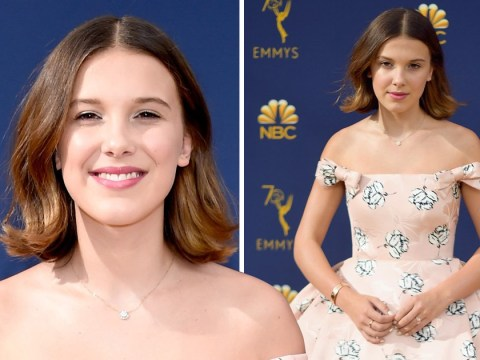 Millie Bobby Brown nails prom-style glamour in a cute pink cupcake dress at the Emmy Awards 2018