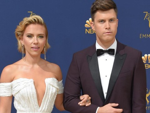 Scarlett Johansson and Colin Jost look cute AF as they make their ceremony debut at Emmys 2018