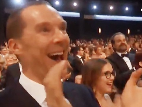 Benedict Cumberbatch's reaction to that proposal was by far the highlight of this year's Emmys