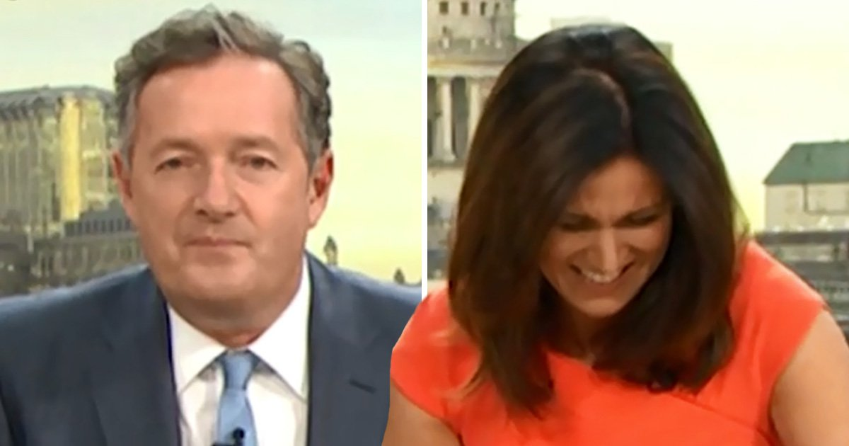 Susanna Reid is in stitches over Piers Morgan's very frisky Brexit talk: 'I don't like a hard out!'