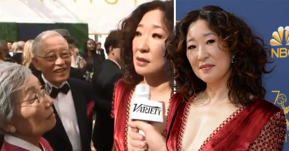 Everyone is obsessed with Sandra Oh's family as they steal the Emmy Awards