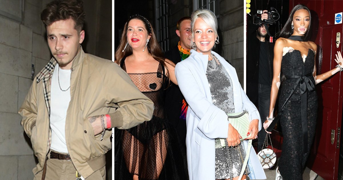 Brooklyn Beckham parties with Lily Allen, Winnie Harlow and Liz Hurley at London fashion week